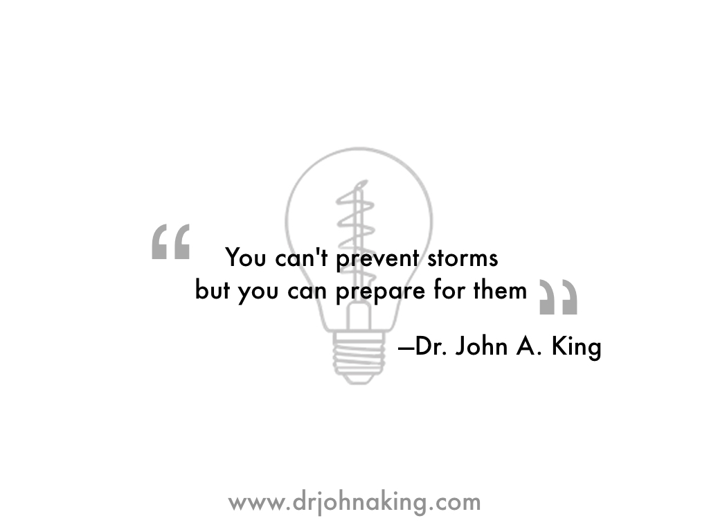 You Can't Prevent Storms #drjohnaking